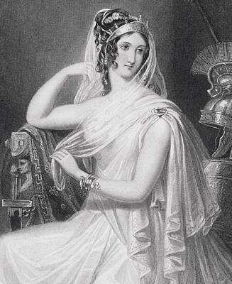 Helen Of Troy Imaginary 19th Century Art Print by Vintage Design Pics