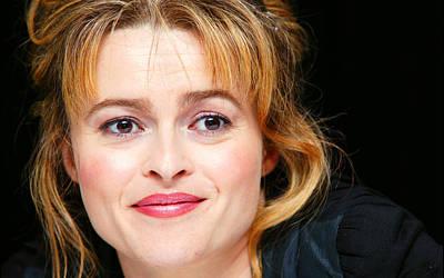 Portraits Digital Art - Helena Bonham Carter by Super Lovely