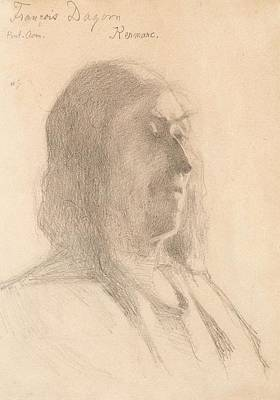 Comic Character Paintings - HELENE SCHJERFBECK , Francois Dagorn 1883 by Francois Dagorn