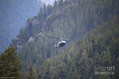 Photograph - Helicopter At Work by Susan Herber