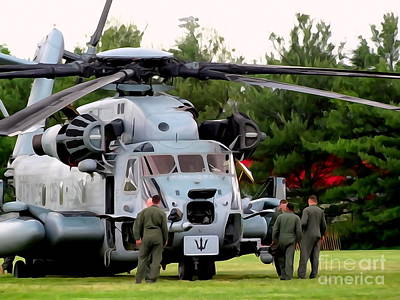 Digital Art - Helicopter Heroes by Ed Weidman