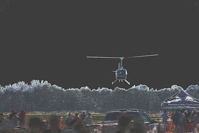 Photograph - Helicopter Lift by Karol Livote