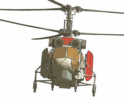 Helicopter Digital Art - Helicopter by Maye Loeser