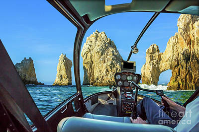 Photograph - Helicopter On Cabo San Lucas by Benny Marty
