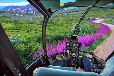Photograph - Helicopter On Denali Np by Benny Marty