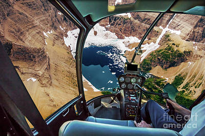 Photograph - Helicopter On Glacier National Park by Benny Marty
