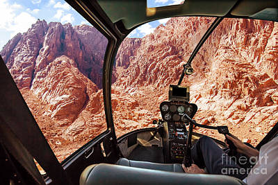 Photograph - Helicopter On Mount Horeb by Benny Marty