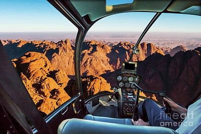 Photograph - Helicopter On Mount Sinai by Benny Marty