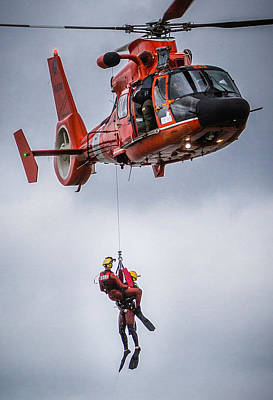 Photograph - Helicopter Rescue by Gregory Daley  PPSA