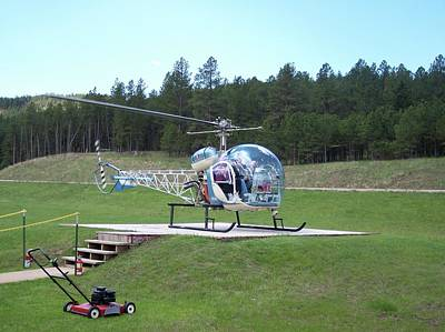 Crazy Horse Photograph - Helicopter Ride South Dakota by Thomas Woolworth