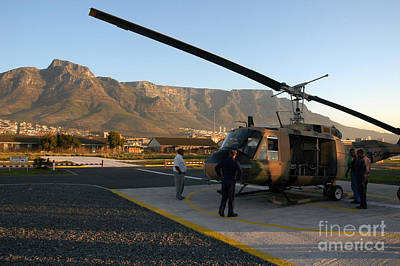 Helicopter Tours Of Cape Town And Table Mountain Art Print by Andy Smy