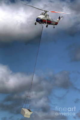 Photograph - Helicopter Working by Rick Mann