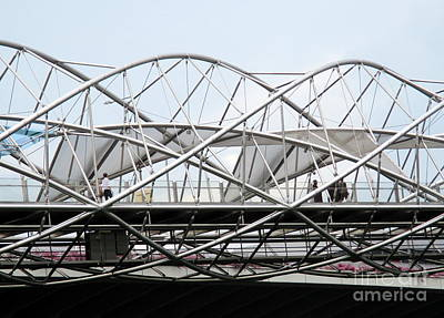 Photograph - Helix Bridge by Randall Weidner