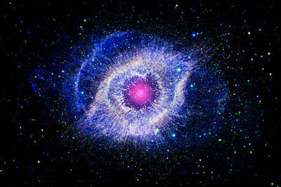 Photograph - Helix Nebula Enhanced by Weston Westmoreland