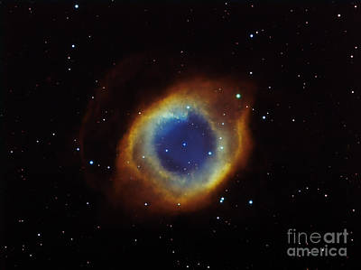 Planetary Nebula Photograph - Helix Nebula In Aquarius Ngc 7293 by Filipe Alves