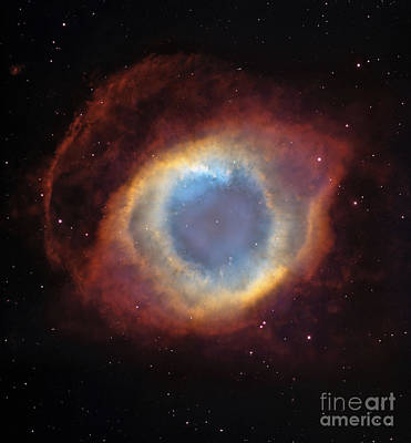 Photograph - Helix Nebula by Stocktrek Images