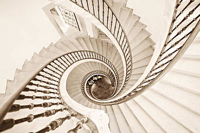 Abstract Architecture Photograph - Helix Vertigo by Ines Montenegro