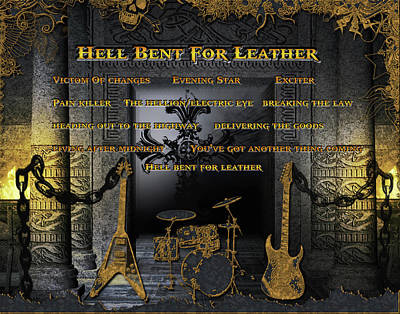 Digital Art - Hell Bent For Leather by Michael Damiani