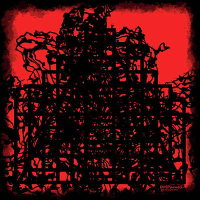 Visceral Digital Art - Hell Gate by Diane Parnell