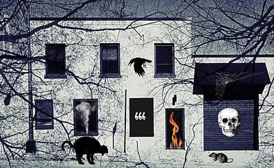 Hell House 666 Art Print by Robert Frank Gabriel
