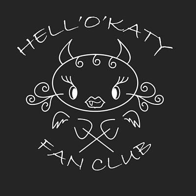 hell oh Katy she-devil fan and fun club Art Print by Pedro Cardona