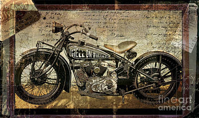 Sepia Painting - Hell On Wheels by Mindy Sommers