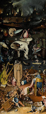 Trumpet Painting - Hell    The Garden Of Earthly Delights by Hieronymus Bosch