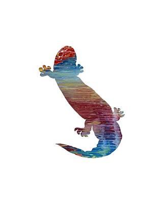 Salamanders Painting - Hellbender Salamander by Mordax Furittus