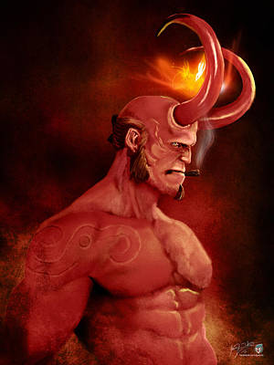 Hellboy Art Print by Jason Longstreet