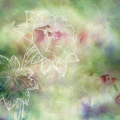 Floral Digital Art Digital Art Digital Art - Joy by Margaret Goodwin