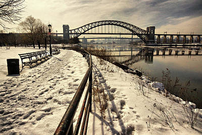 Hellgate Bridge In Winter Art Print
