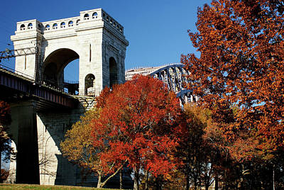 Photograph - Hellgate Bridge Late Autumn by Cate Franklyn