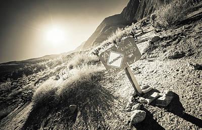 Photograph - Hellhole Canyon Warning by T Brian Jones