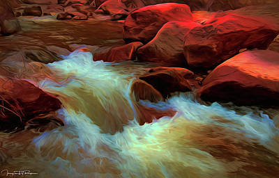 Water Filter Mixed Media - Hellish Flow by Todd Yoder