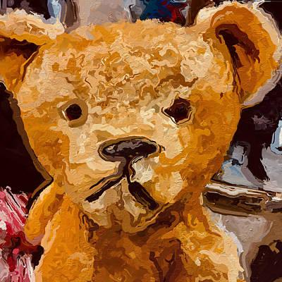 Hello Bear Face Art Print