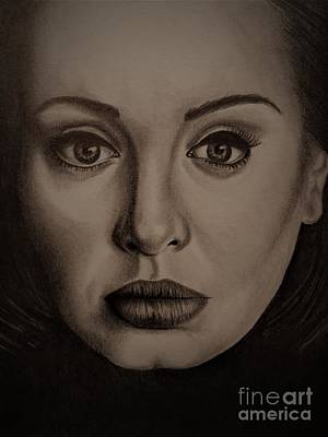 Adele Drawing - Hello by Cole Maurmann