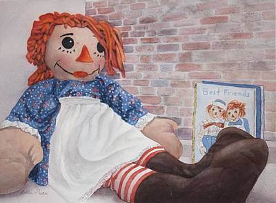 Raggedy Ann Painting - Hello Dolly by Bobbi Price