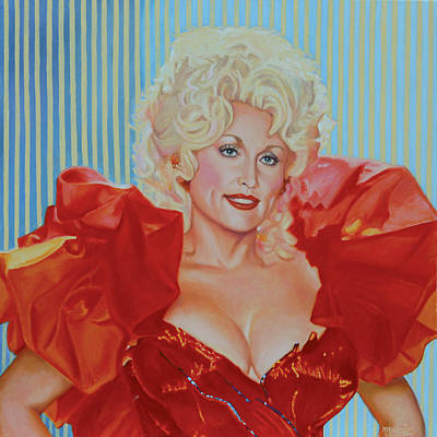 Painting - Hello Dolly - Dolly Parton by Maria Modopoulos