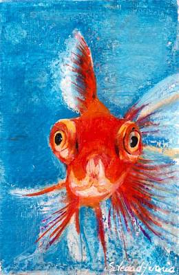 Fish-eye Look Painting - Hello Fish by Sole Avaria