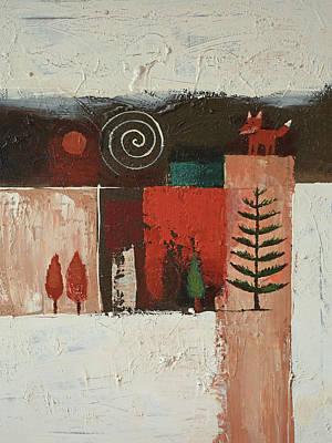 Painting - Hello Fox by Lutz Baar
