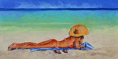 Lynee Sapere Wall Art - Painting - Hello From Paradise by Lynee Sapere