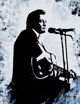 Painting - Hello Im Johnny Cash by Alys Caviness-Gober