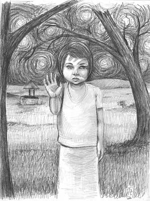 James Parker Drawing - Hello by James Parker