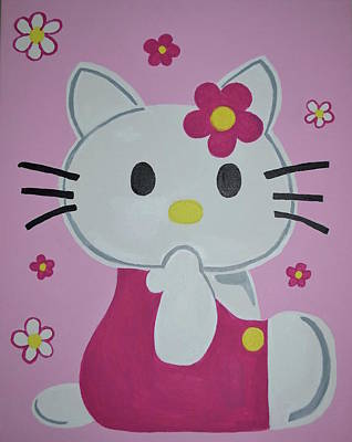 Hello Kitty Painting - Hello Kitty by KevinAnne Taylor