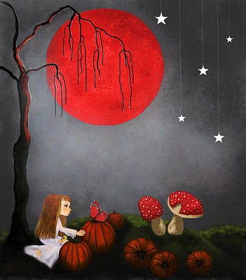 Painting - Red Moon By Sannel Larson by Sannel Larson