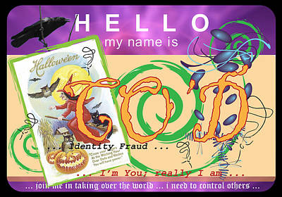 Hello My Name Is Co'd Art Print by Donna Zoll