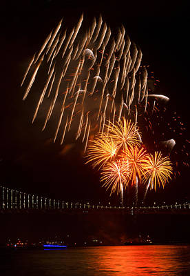 Photograph - Hello New Year Fireworks by Bonnie Follett