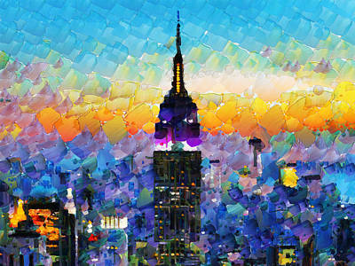 Hello New York Art Print by Sir Josef - Social Critic -  Maha Art
