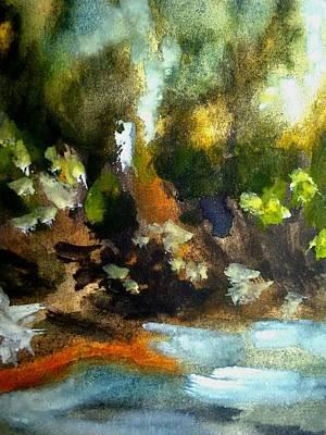 Inner World Painting - Hello Sadness by Madina Kanunova