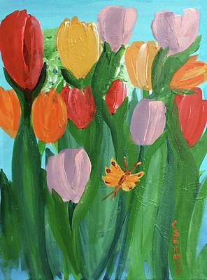 Painting - Hello Spring Tulips by Christina Schott